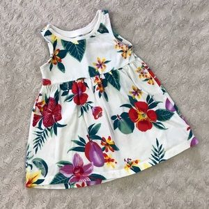 Old Navy Tropical Floral Dress Size 0-3 Months